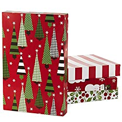 Hallmark Christmas Gift Box Assortment - Pack of 12 Patterned Shirt Boxes with Lids for Wrapping Gif