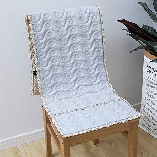 DIELUNY Cojines acolchados para silla mecedora de color sólido, cojín de banco para patio, ventana de la bahía, decoración del hogar, cojines para sillas de comedor, color gris, 40 x 135 cm