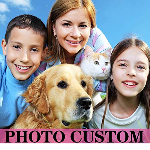 Custom Diamond Art Painting Kits Full Drill for Adults,Personalized Photo for Your Family,Dogs,Cats,Customized Diamond Painting Own Design Picture(Round Drill)