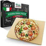 Pizza Divertimento Piedra pizza para horno y parrilla de gas - Pizza Stone de cordierita - Base crujiente y topping jugoso