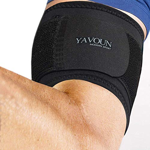 """Tendonitis - Bicep & Tricep Compression Sleeve/Wrap - Tricep Tendonitis, Bicep Tendonitis - Pain Relief for Bicep and Tricep Muscle Strains, Compression Arm Suppor (Black, 8.3"""" - 13.7"""" × W3.93"""")"""