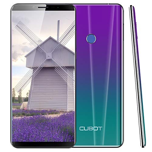 Cubot X19, 4G Unlocked Smartphone, Android 9.0, 5.93 inch FHD, 4GB+64GB, Dual SIM, 4000mAh, 8MP+16MP, Face Unlock Finger Print (Gradient)