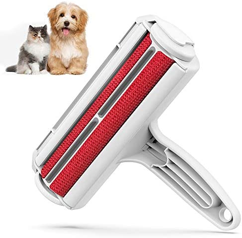 DELOMO Pet Hair Remover Roller – Dog & Cat Fur Remover with Self-Cleaning Base – Efficient Animal Hair Removal Tool – Perfect for Furniture, Couch, Carpet, Car Seat