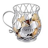 LTXDJ Soporte para cápsulas de café, canasta de cápsulas organizadora de cápsulas de café Se aplica a cápsulas Nespresso, K-Cup, etc, Accesorios de café universales