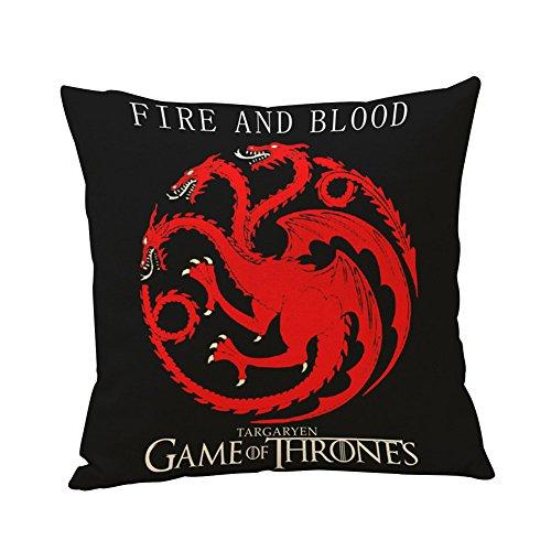 Globeagle Game of Thrones House Sigils Family Crest Kissen Fall (Targaryen)