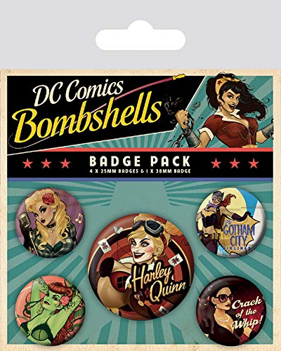 Pyramid International DC Comics Bombshell Badge, Multicolore, 10 x 12.5 x 1.3 cm