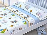 Cabello Textil Hogar - Juego de sabanas Infantiles con 3 Piezas Mod. Cerdito (Cama de 90 cm (90_x_190/200 cm))