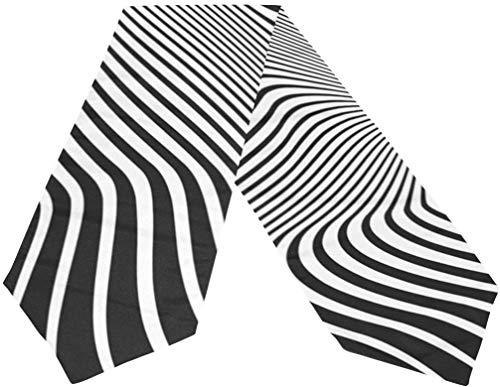 Short Sleeve Camino de Mesa de Tela con Curvas en Blanco y Negro, manteles Individuales para Cocina, Comedor, decoración de Mesa para Banquete de Boda, decoración de Fiesta