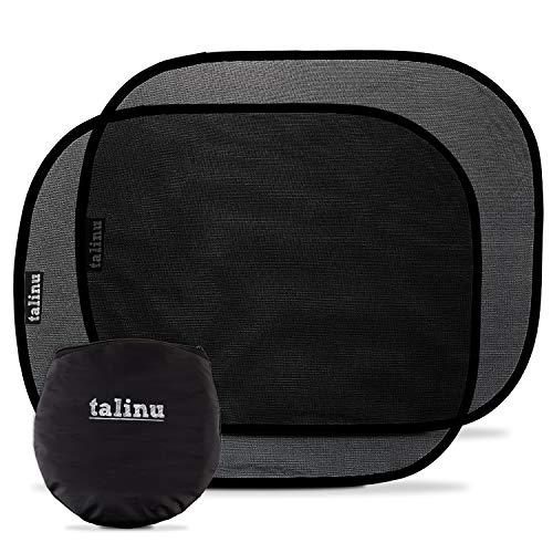 TALINU selbsthaftende Sonnenblende – Autosonnenschutz 2er-Set | Selbstklebend – 2 Stück, inklusive Tasche zum Aufbewahren