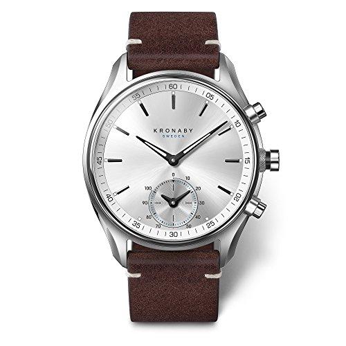 Kronaby SEKEL Herren Hybrid Smartwatch A1000-0714 eine traditionelle Uhr mit Smartwatch Funktionalitäten 41 mm Gehäusedurchmesser Saphirglas 100 Meter wasserdicht