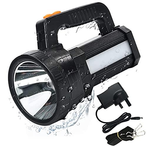 LED Torch Flashlight Rechargeable, 10000 Lumen Super Bright Searchlight Spotlight...