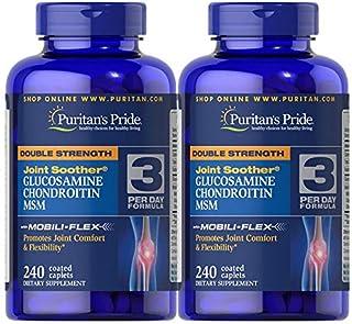 Puritan's Pride Double Strength Glucosamine 240 Coated Caplets - 2 Pack