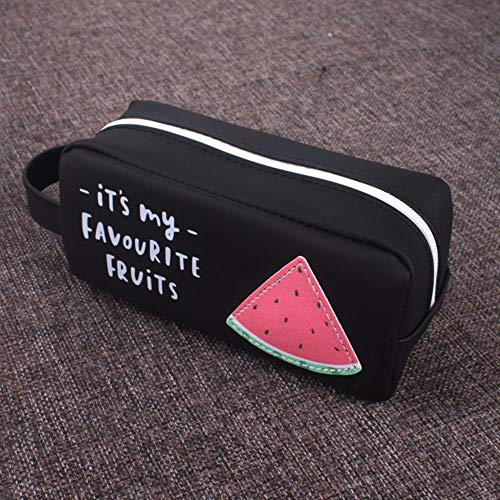 Pencil Box Fruit Pen Bag Large Capacity Silicone Pen Bag Student Stationery Box Storage Bag,Watermelon