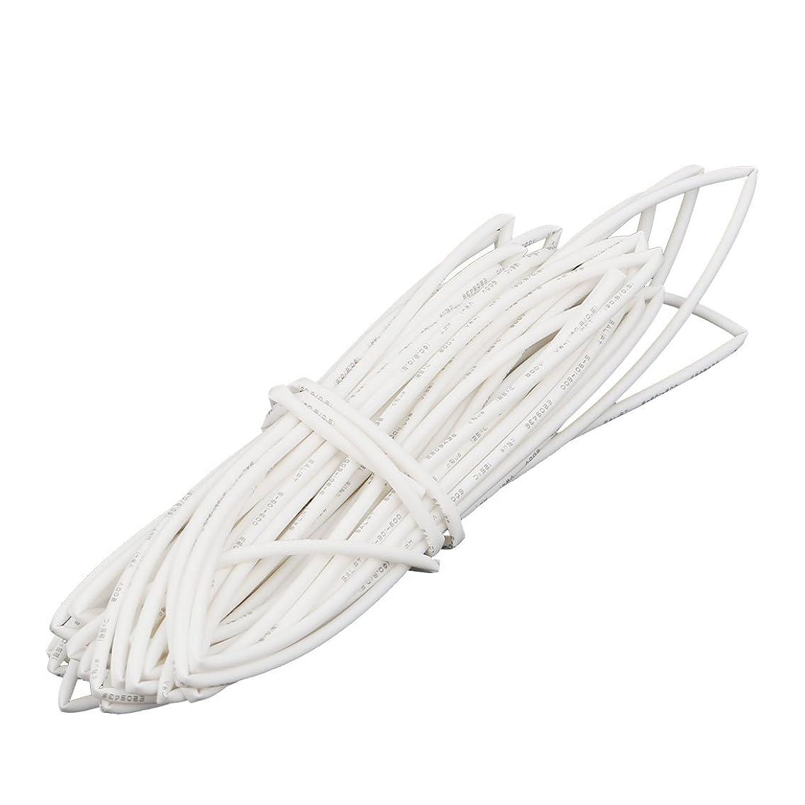 前文農夫uxcell 熱収縮チューブ 断熱管 ポリオレフィン素材 ホワイト 長さ5M 内径0.8MM
