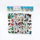 12 Hojas/Set 3D Pegatinas de Dibujos Animados patrón de Dinosaurio Animal Bubble PVC DIY Scrapbook Sticker para niños niños niños Regalos