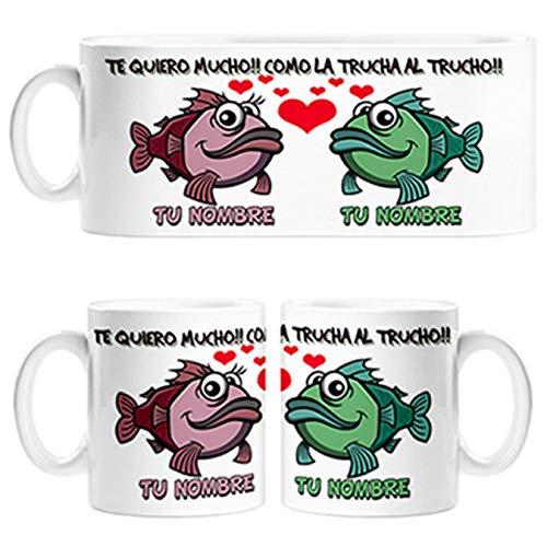 Diver Tazas Taza Taza para Novio Novia te Quiero Mucho como la Trucha al trucho...