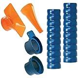 Loc-Line 80813 Shop Vacuum Kit, 2.5', Blue/Orange
