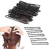 Clips para el cabello 50 unids/set negro pinzas de pelo Bobby Pins Grip 50 piezas 5 cm Salon Barrette U clips horquillas DIY Pan Head Accesorios para el cabello