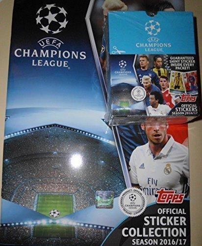 Topps Champions League Sticker 2016/2017 - Leeralbum + 1 x Display / 50 Tüten