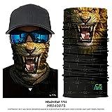 PAWANG 3D Ciclismo Mascarilla Lobo Tigre Mascotas Sombreros Animal Pañuelo Bufanda Avatar Cuello Polaina Veneno Sin Costuras Diadema Senderismo Pasamontañas