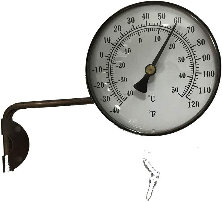 4-Inch Brass Swivel Thermometer New Animer and price revision life Dual Scale