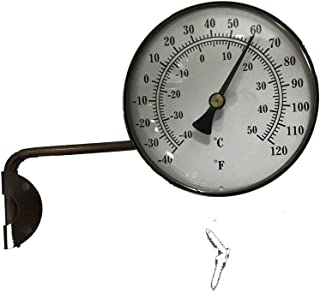 4-Inch Brass Swivel Thermometer, Dual Scale