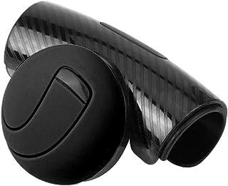 Cuque Steering Wheel Knob, Universal Car Steering Wheel Accessory Knob Power Handle Ball Wheel Booster for Car Auto(Black)