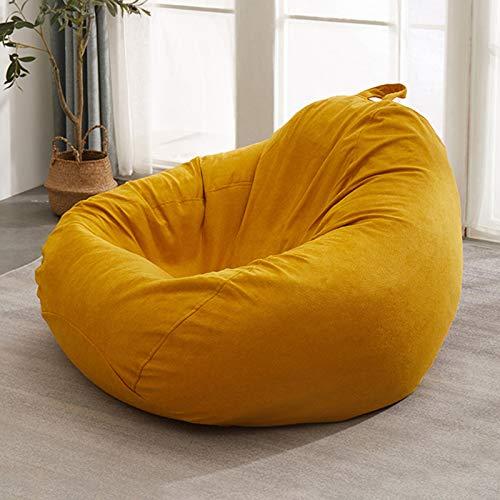 DJFIOSD Lazy Sofa Boden Stuhl, Sitzsack Single Liege Schlafzimmer Balkon Lounge Chair Abnehmbare Waschbare Lazy Sofa Für Zu Hause Innen Wohnzimmer Verwendet,Gelb