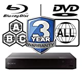 SONY BDP-S3700 smart wifi Multi Region-Free All Zone Blu-ray Player. Blu-ray Zones A