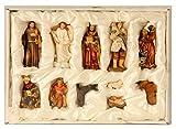 Geschenkestadl Krippenfiguren 11-teiliges Set Krippe Figuren bis 8,5 cm Weihnachten Maria Josef Jesus - 2