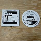 白雲石吸水コースター 阪神高速大和川線オリジナル スクエア ラウンド 2枚セット