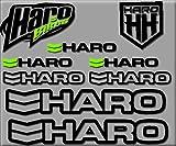 Ecoshirt DZ-QVCJ-UVLW Autocollants HARO Bikes R200 Stickers Autocollants Noir