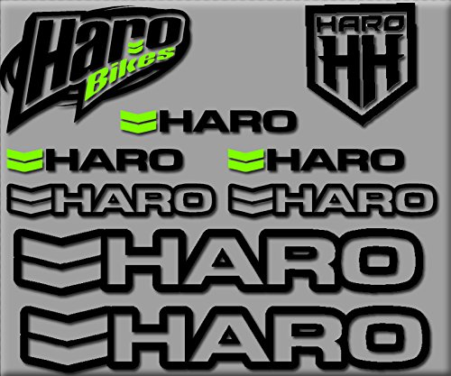 Ecoshirt DZ-QVCJ-UVLW HARO Bikes R200 Stickers Aufkleber Decals Autocollants Adesivi, Black