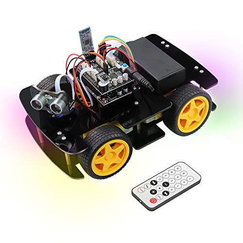 Freenove 4WD Car Kit (Compatible with Arduino IDE), Line Tracking, Obstacle Avoidance, Ultrasonic Sensor, Bluetooth IR Wireless Remote Control Servo