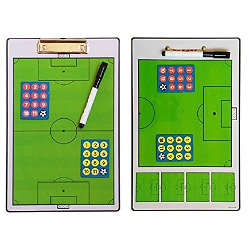 pizarra tactica futbol Tablero de entrenador de entrenador de fútbol magnético de doble cara Tacías de comando placa plegable Tactical Tactical Profesión Entrenamiento Táctico Libro táctico