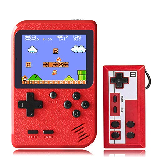 LEOP Handheld Game Console , Retro Mini Game Player with 400 Classical FC Games , 2.8-Inch Color Screen Support for Connecting TV and Two Players, Present for Kids and Adult