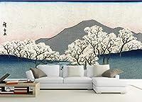 写真の壁紙日本の浮世絵の桜の風景の風景日本の店の背景の壁リビングルームの壁の芸術の壁の装飾の家の装飾のための大きな壁壁画シリーズの壁紙-118.2x82.7inch/300cmx210cm