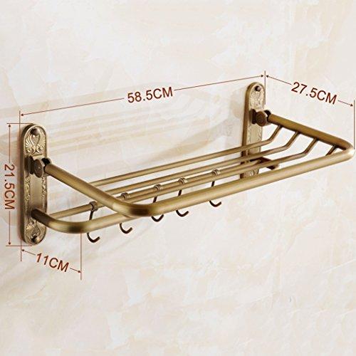 Rail rétro mural de serviette de style américain, support pliable de serviette de cuivre/salle de bains (taille : #2)