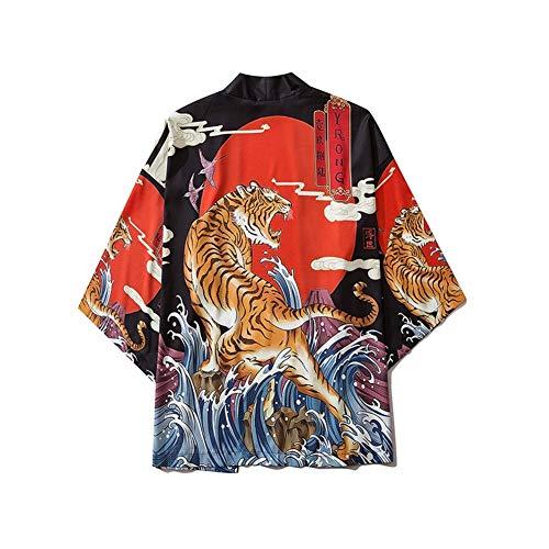 ZTXCM Giapponese Yukata Kimono di Stile Haori Donne degli Uomini del Cardigan Cinese Stampa Coat Giappone Tradizionale Abbigliamento asiatici Vestiti (Colore : Style 4, Size : S)
