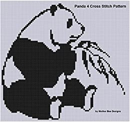 Panda 4 Cross Stitch Pattern by [Mother Bee Designs]
