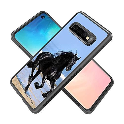 Samsung Galaxy S10 case American Flag Full Body Case Cover Screen Protector Heavy Duty Protection case Shockproof case for Samsung Galaxy S10 (Horse)