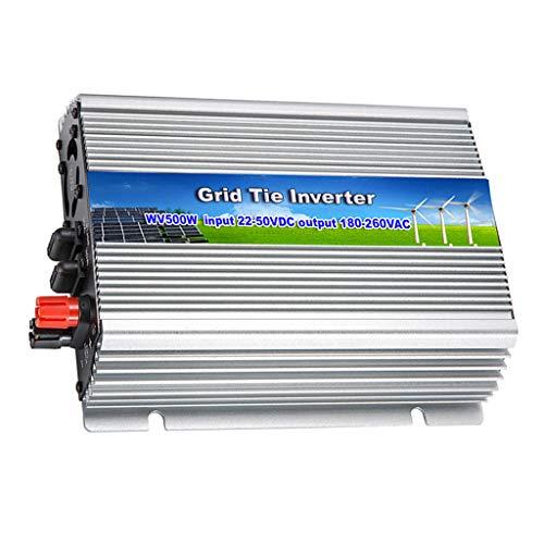 Homyl Inversor De Conexión A Red 500W DC 22V-50V A AC 180-260V para Sistema De Panel Solar