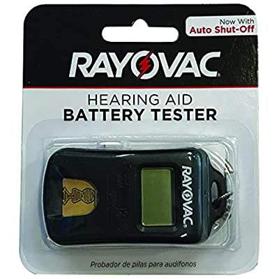 RAYOVAC Advanced Hearing Aid Battery Tester - Universal Size - Keychain Attachment - Easy Use - Compact - Travel Ready + Battery Holder