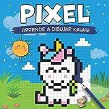 PIXEL ART - Aprende a dibujar Kawaii: dibuja y colorea personajes Kawaii en líneas de cuadrícula (an...