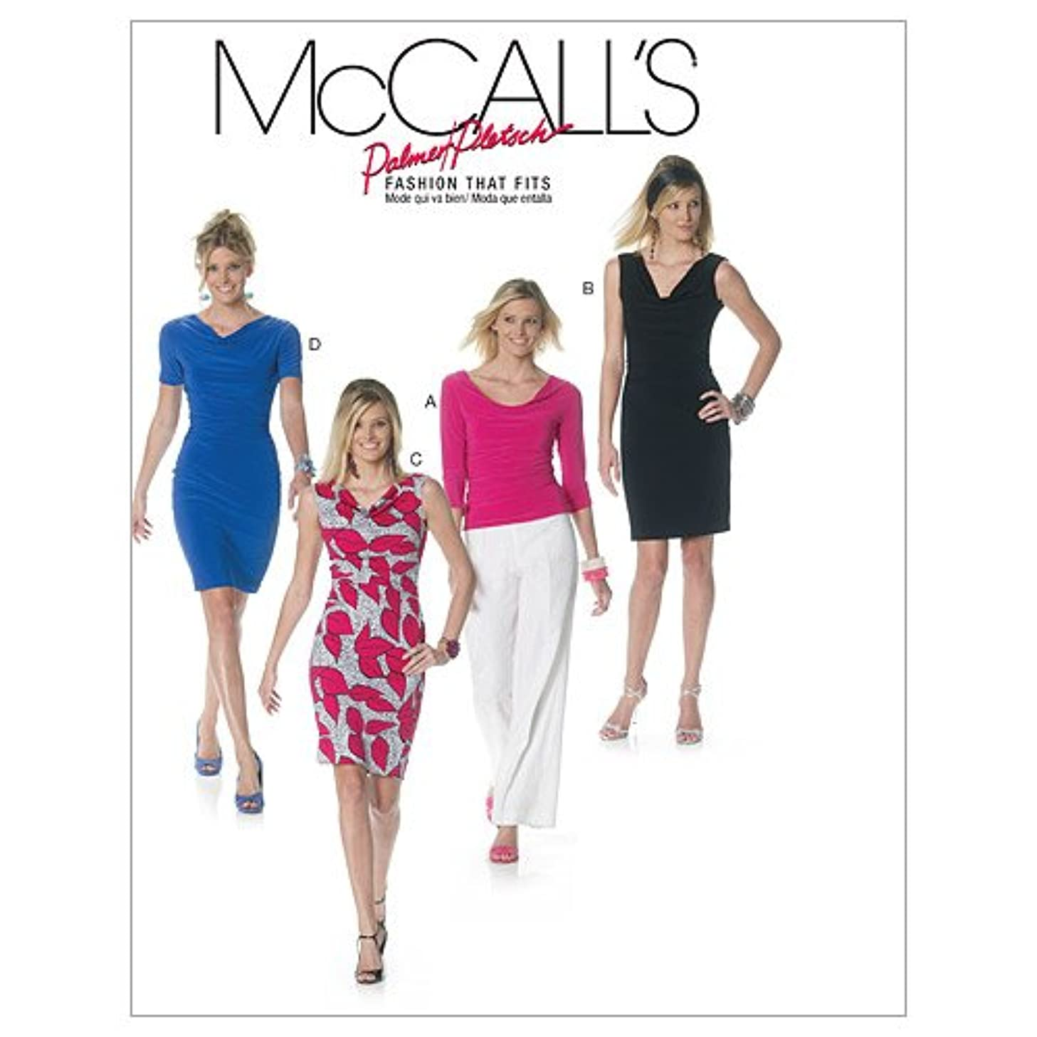 McCall's Patterns M6282 Misses' Lined Top and Dresses, Size BB (8-10-12-14)