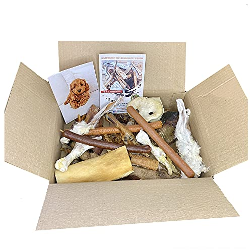 Dudley's 100% Natural Doggy Treat & Chew Box   Delicious Healthy Raw Dog Treats   Grain, Gluten & Lactose Free