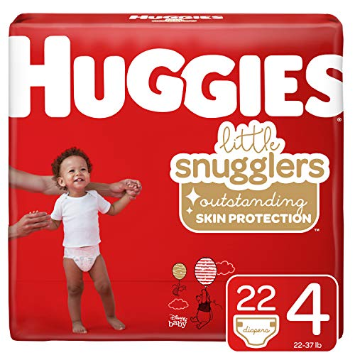 Huggies Little Snugglers Baby Diapers, Size 4, 22 Ct