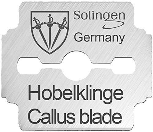 3 Swords Germany – 100 (10x10) lames pour râpe à pied pédicure - qualité marque SOLINGEN (7070)