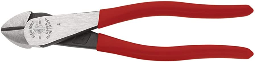Klein Tools D248-8 High Leverage Pliers, Diagonal Cutters, Angled Head, Standard Cut, 8-Inch Short Jaw Pliers
