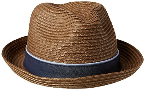 Preisvergleich Produktbild Original Penguin Men's Straw Porkpie Hat,  Chocolate,  Large / X-Large
